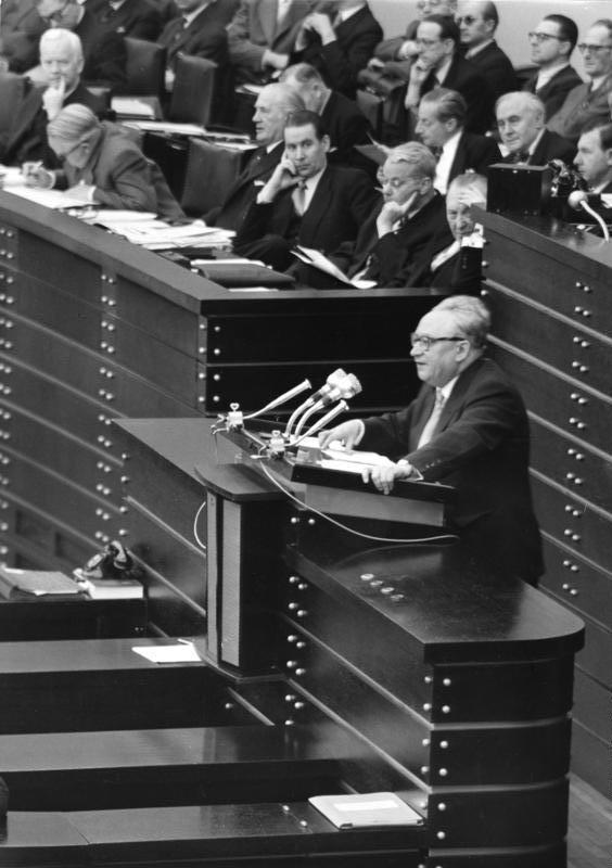 Bonn, Bundestag, Pariser Verträge, Ollenhauer