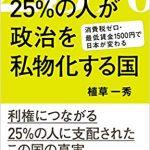 本日、「25%の人が政治を私物化する国」が発売(加筆)