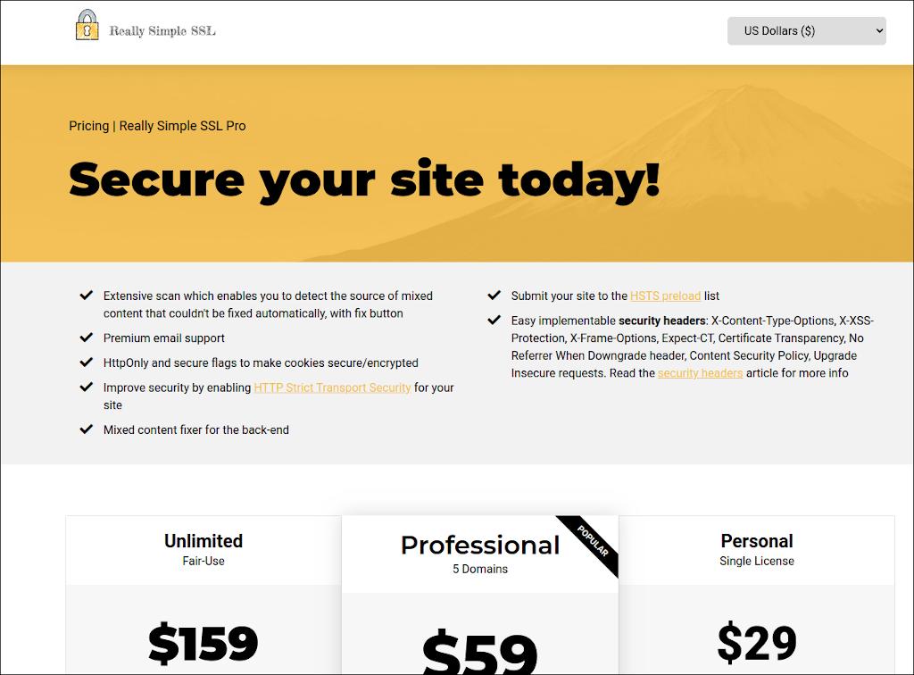 「このサイトは完全には保護されていません」−Really Simple SSL Pluginを試しましょう(参考)