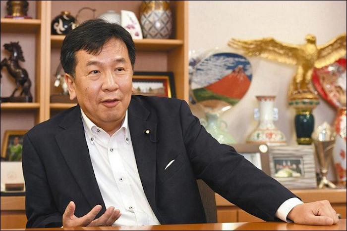 東京新聞の総選挙に関するインタビューに答える立憲民主党の枝野幸男代表