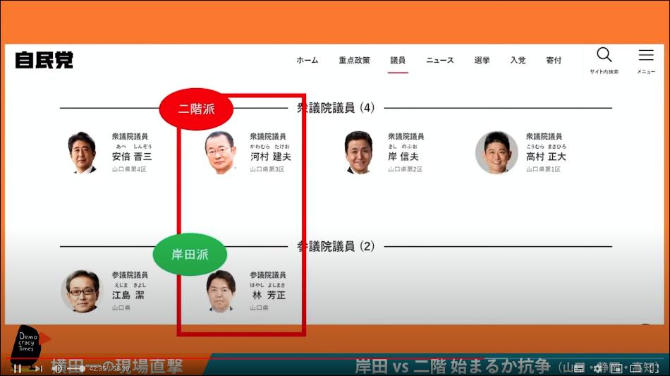 山口県3区と4区の総選挙対立候補