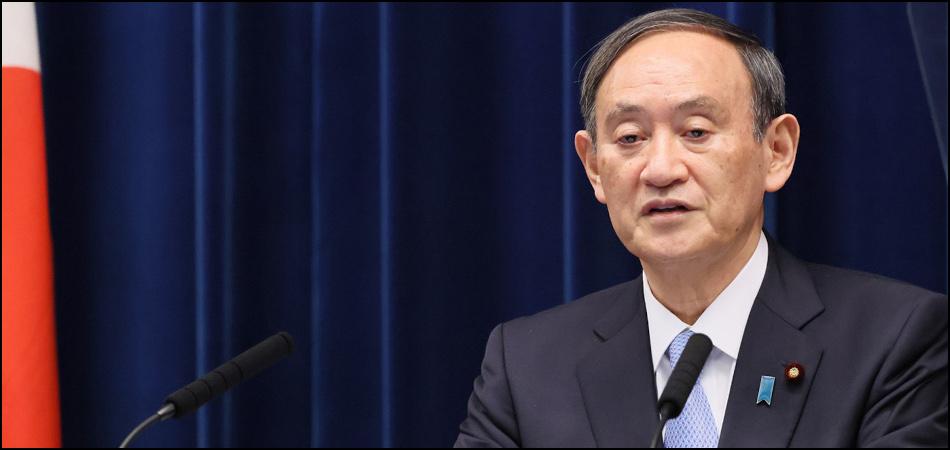 首都圏1都3県で緊急事態宣言の再々延長を発表する菅首相